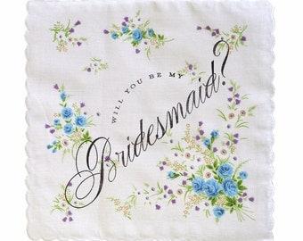 Will you be my bridesmaid? Handkerchief