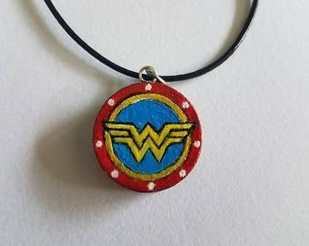 Wonder Woman Logo Geek Necklace