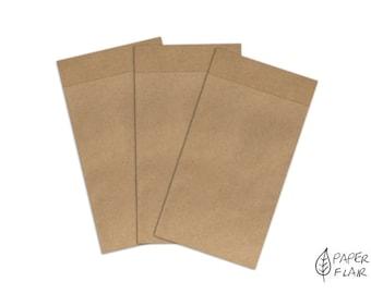 10 paper bags kraft paper nature (K-24)