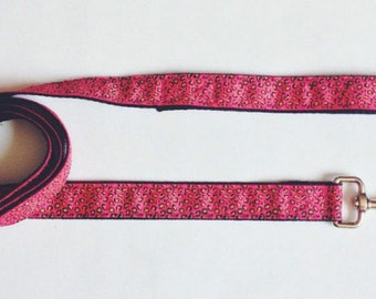 Pink Leo | Dog Leash. Pink Leopard Dog Leash
