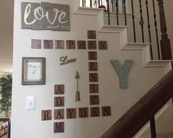 Scrabble Tile Wall Decor