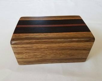 Keepsake box made from beautiful exotic woods