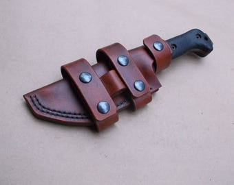 Custom Sheath for Ka Bar BECKER BK-2 Custom Leather Sheath (Sheath Only) CUSTOM  4 Week Wait