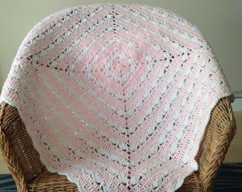 Crochet baby blanket-Baby gift-Baby shower-Pram blanket-Stroller blanket-Crib blanket-Baby afghan
