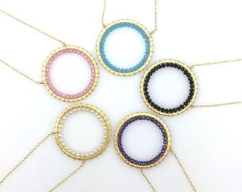 Circle Necklaces | Gold Circle Necklaces | Pendant Necklaces | Gold Pendants | Delicate Necklaces | Infinity Necklace | Gift for Her