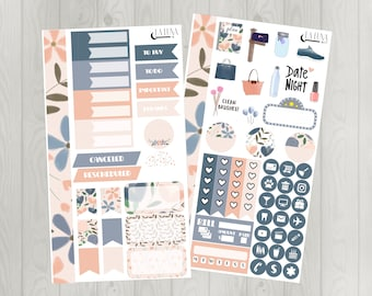 Spring Blooms Glossy Stickers for Personal Planners