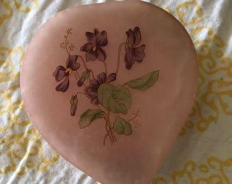 Lefton Heart Shaped Trinket Jewelry Box Genuine Alabaster