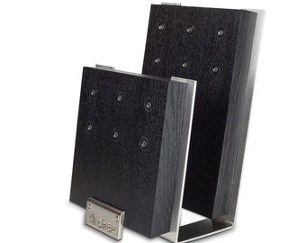 Magnetic Knife block black