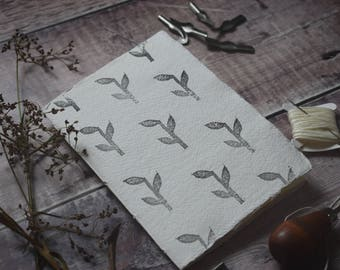 Hand-printed notebook: Bamboo