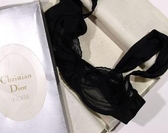 Christian Dior Vintage Black Lace Bra