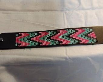 cross stitch bracelet cuff