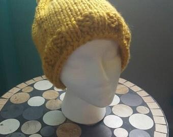 Mustard Yellow knit beanie