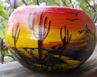 Vintage Southwestern Pottery - Handpainted and Signed