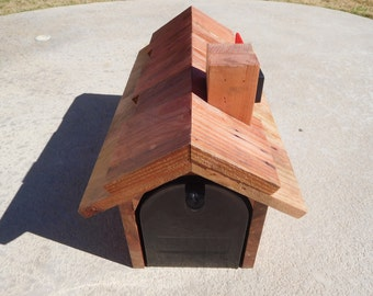 U.S. Mailbox custom encased in hand picked Cedar and topped with a Redwood
