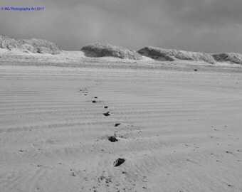Footprints in the Sand, Ogmore By Sea Photography Print, Fine Art Print, Landscape, Wales