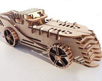 3D car wooden puzzle