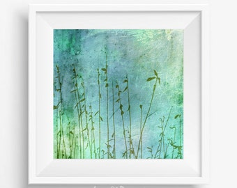 Modern abstract, green photography, teal home decor, abstract wall art, abstract photography, printable picture, nature photography