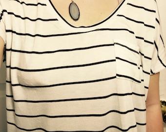 Geode section necklece