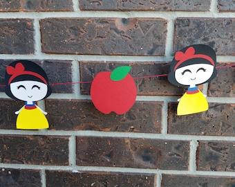 Snow White Banner, Snow White, Disney Princess, Birthday Girl Banner, Disney Party Supplies