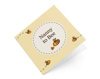 Nanny To Be Bumble Bee - Pregnancy Announcement Card