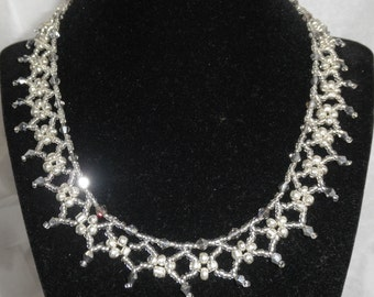 Elegant and Sparkling Necklace and Earrings Set