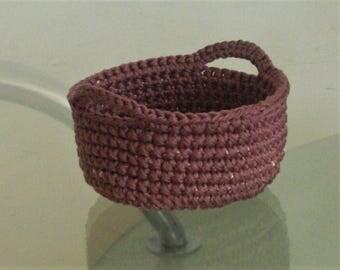 storage basket crochet basket