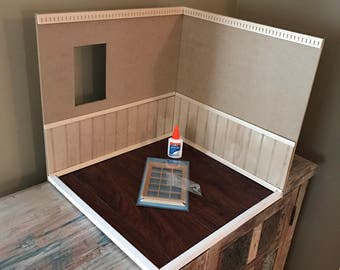 Blythe Room Box with Faux Wood Laminate Floor