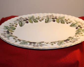 Royal Worcester Lavinia Oval serving plate 10 ins x 13.5 ins