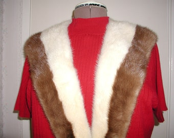 Autumn Haze and Ermine Mink Collar... Vintage.Mink Collar in Two Colors