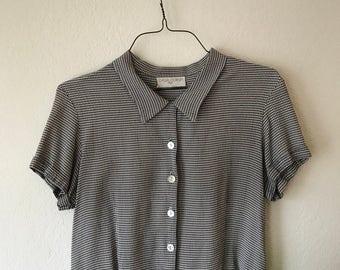 Checkered Collared Button Up Shirt