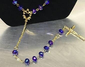 Beautiful handmade beaded rosary