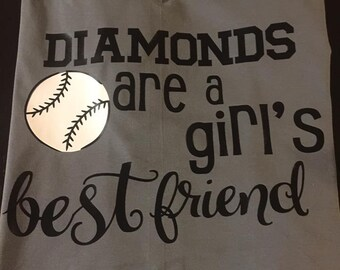 Diamonds Are A Girl's Best Friend Tee