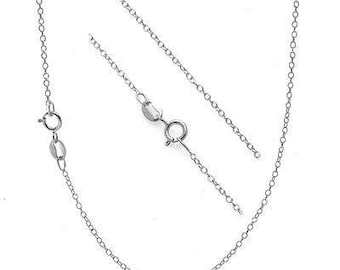 Sterling  Silver Classic Cable Necklace.