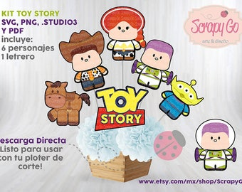 Centro de Mesa, Toy Story, Party Kids, Niños, Archivo de corte, Imprimible, Digital,Listo para Plotter de corte cameo, pdf, png,svg, Buzz