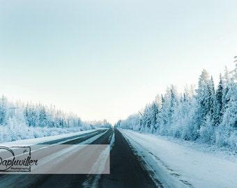 Icy Road Conditions In Saskatchewan