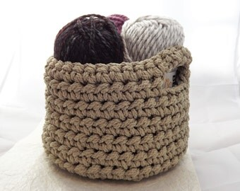 Storage Basket, Home Decor, Crochet Basket, Handmade Craft Basket, Storage Bin, Free Shipping!