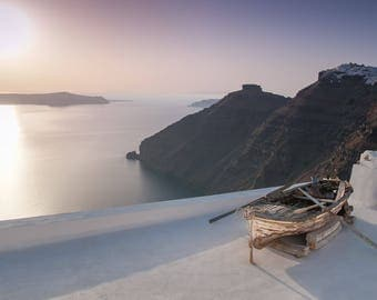 Santorini, the volcanic Greek paradise at sunset - canvas