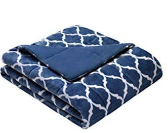 "40""x70"" Adult Weighted Blanket-Indigo Color- Weighted Blanket for Adult, Teen, Anxiety, PTSD, Insomnia, Autism, Aspergers,"
