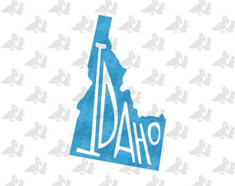 Idaho State Pride Single Color Decal Sticker
