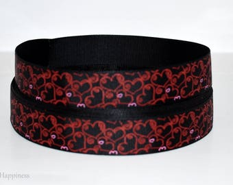 "Hearts 7/8"" Grosgrain Ribbon 882"