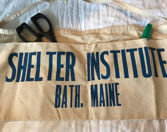 Vintage Shelter Institute Canvas Tool Belt Apron Bath, Maine