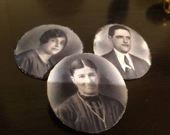 """brooch with a picture of """"ancestors"""""""