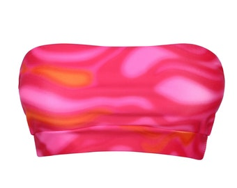 Amya Bandeau Bikini Top - Psycho Pink