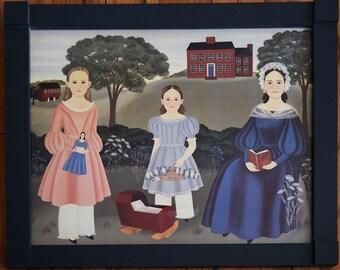 Framed Arlene Strader Folk Art Print