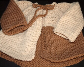 Baby's Hand Made Knitted Acrylic Yarn Sweater