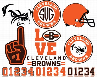 Cleveland Browns- Cuttable Design Files(Svg, Eps,Dxf, Jpg) For Silhouette Studio, Cricut Design Space, Cutting Machines,Instant Download