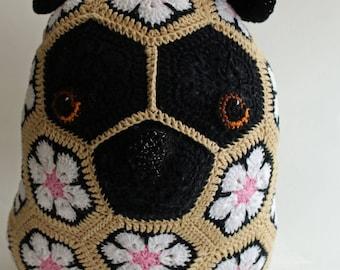 Pug crochet pattern Etsy