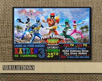 Power Rangers Birthday Party Invitations for perfect invitations ideas