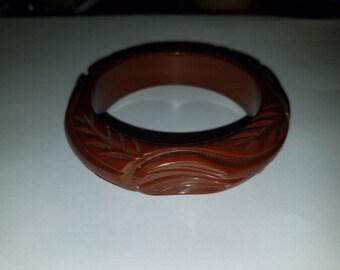 Chocolate Carved Bangle