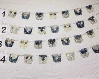Handmade Owl Bunting